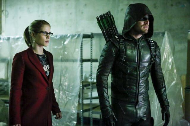 Arrow Season 5 Episode 10 Stephen Amell and Emily Bett Rickards