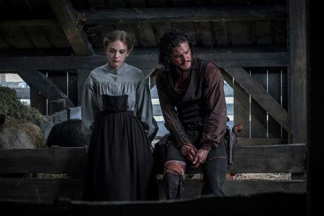 Brimstone Emilia Jones and Kit Harington