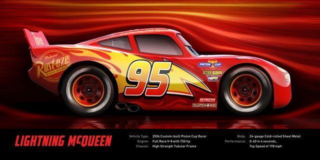 Lightning McQueen voices by Owen Wilson in Disney•Pixar's 'Cars 3.'