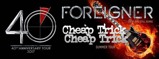 Foreigner and Cheap Trick 2017 Tour