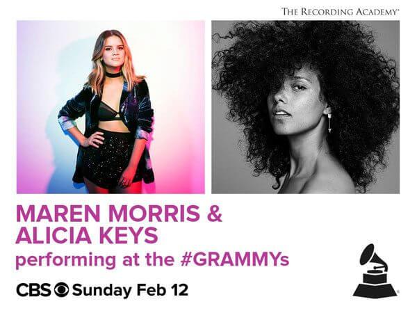 Grammys Alicia Keys and Maren Morris