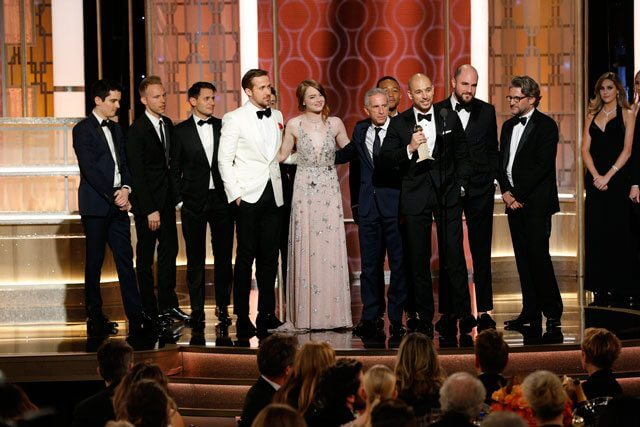 2017 Golden Globes Winners La La Land Cast