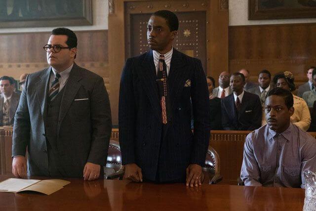 Marshall stars Chadwick Boseman, Josh Gad, Sterling K Brown