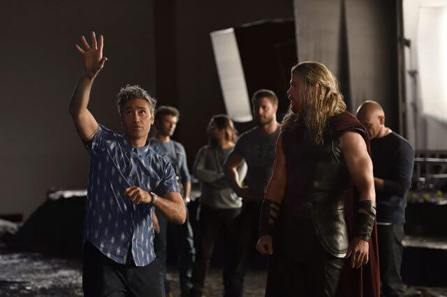 Thor Ragnarok star Chris Hemsworth and director Taiki Waititi