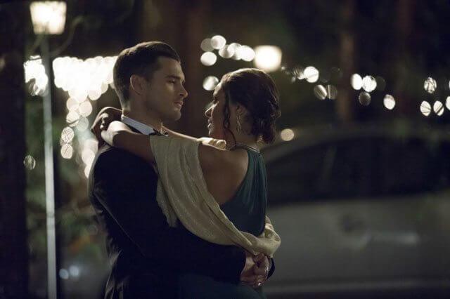 The Vampire Diaries season 8 episode 9 Michael Malarkey and Kat Graham