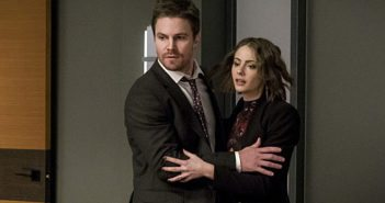 Arrow Season 5 episode 13 Stephen Amell and Willa Holland