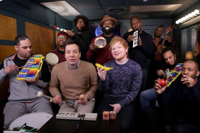Ed Sheeran, Jimmy Fallon and The Roots