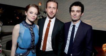 Emma Stone Ryan Gosling and Damien Chazelle