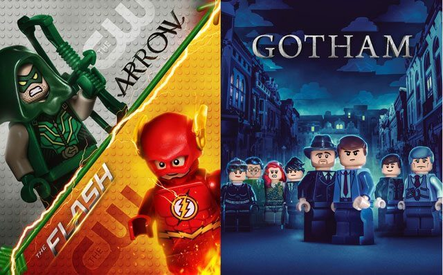 Flash, Arrow, Gotham Lego Billboard