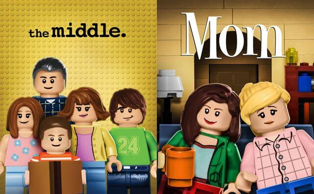 The Middle and Mom LEGO Billboards
