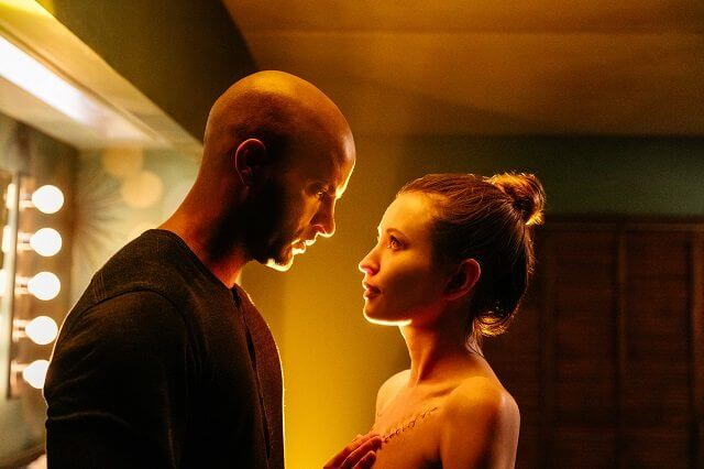 American Gods Ricky Whittle and Emily Browning