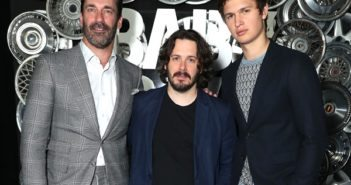 Baby Driver stars Ansel Elgort and Jon Hamm with director Edgar Wright