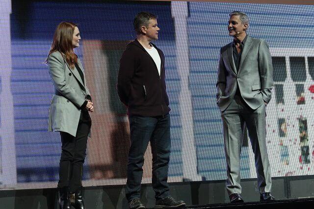 Julianne Moore, Matt Damon, George Clooney at CinemaCon