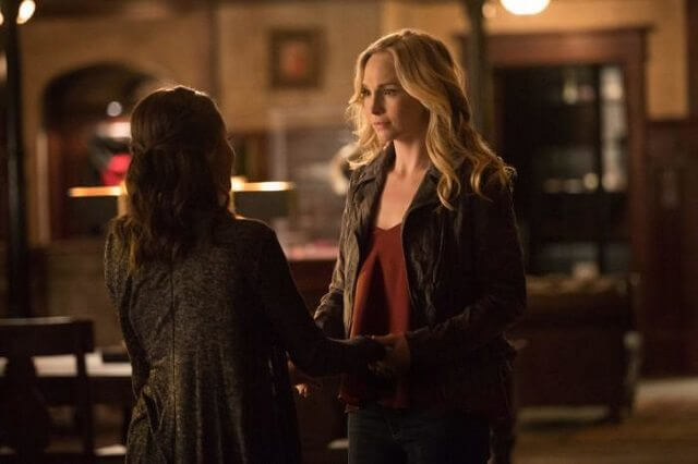 The Vampire Diaries Season 8 Episode 16 Candice King and Kat Graham
