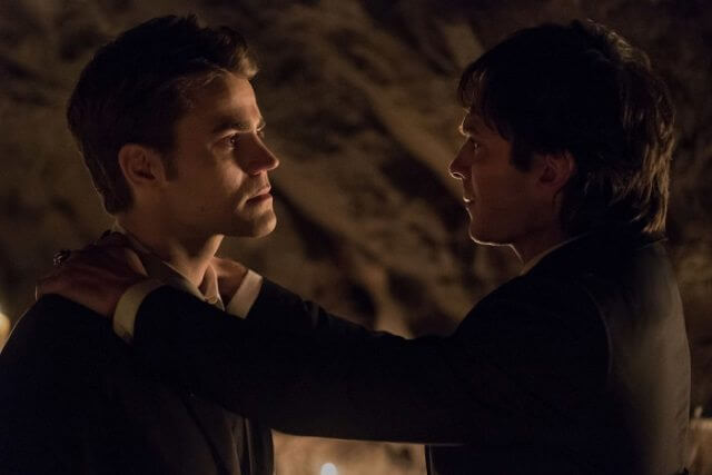 Paul Wesley as Stefan and Ian Somerhalder as Damon in 'The Vampire Diaries' series finale (Photo: Annette Brown ©2017 The CW Network)