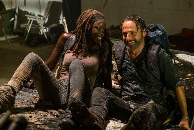 Walking Dead Season 7 Episode 12 Andrew Lincoln and Danai Gurira