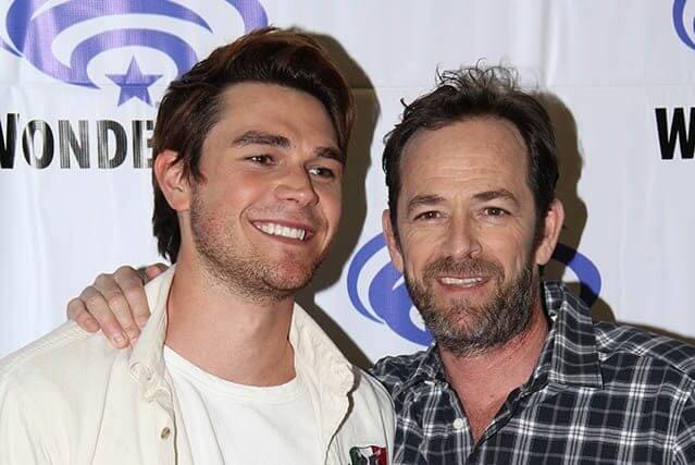 Riverdale stars K.J. Apa and Luke Perry