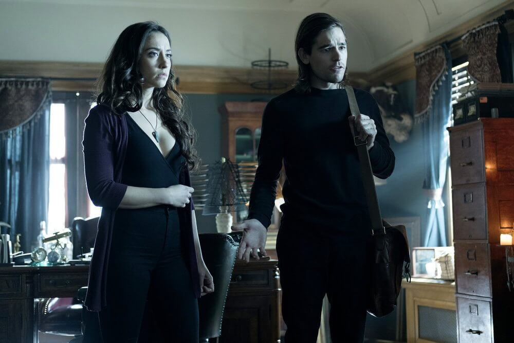 The Magicians Stella Maeve and Jason Ralph