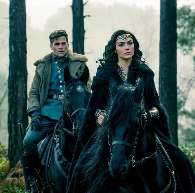 Wonder Woman stars Gal Gadot and Chris Pine
