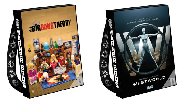 Big Bang Theory Westworld Comic Con Bags 2017