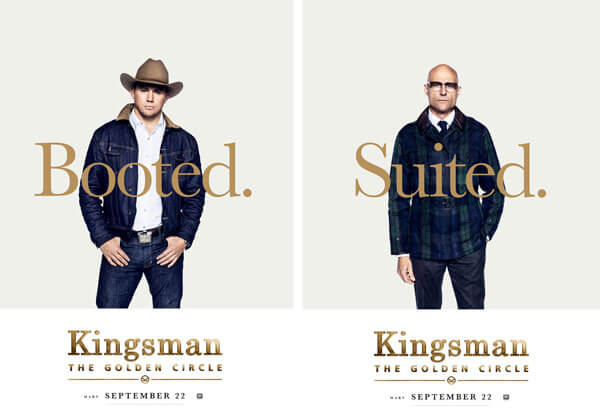 Kingsman: The Golden Circle Channing Tatum and Mark Strong Poster