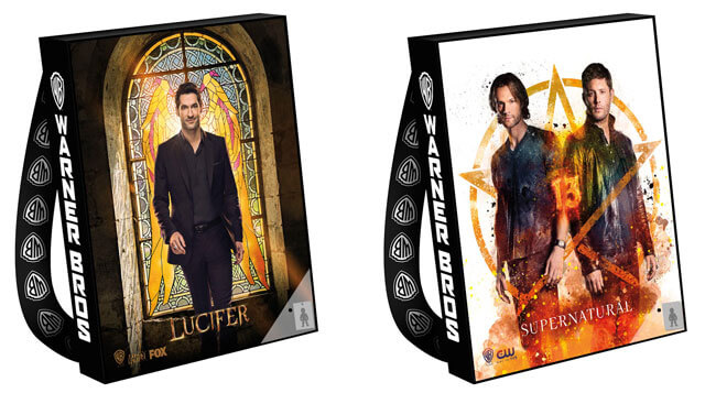 Lucifer and Supernatural Comic Con Bags 2017