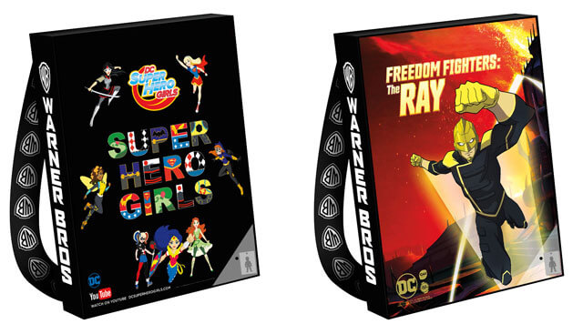 Super Hero Girls and Freedom Fighters Comic Con Bags 2017