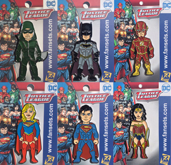 Superhero Comic Con Pins