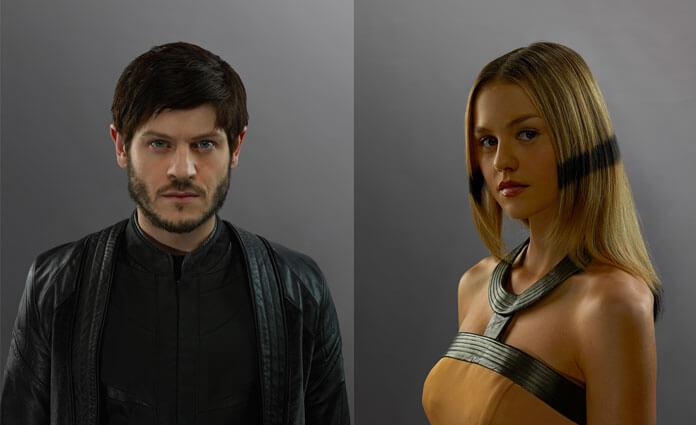 Inhumans Iwan Rheon and Isabelle Cornish