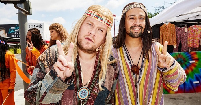 Lin-Manuel Miranda Joins James Corden for 'Crosswalk The Musical: Hair' Watch