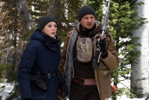 Wind River stars Jeremy Renner and Elizabeth Olsen