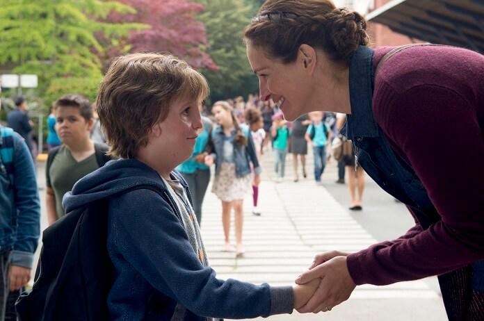 Wonder starring Julia Roberts and Jacob Tremblay