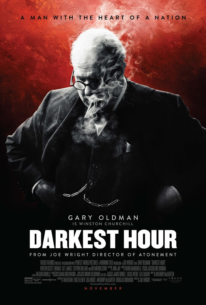 darkest hour unveils a new poster with gary oldman as