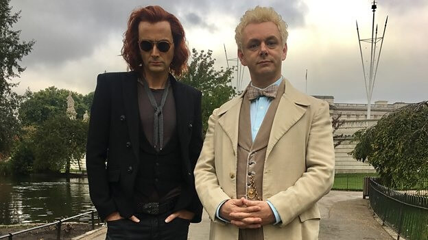 David Tennant's demon meets Michael Sheen's angel