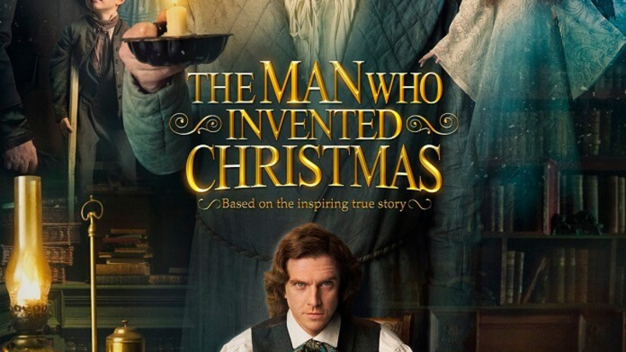 The Man Who Invented Christmas Poster.The Man Who Invented Christmas Trailer Dan Stevens Is