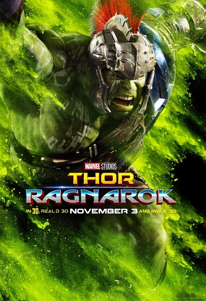 Thor: Ragnarok Hulk Poster