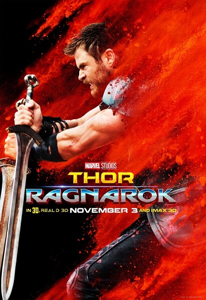Thor: Ragnarok Chris Hemsworth Poster