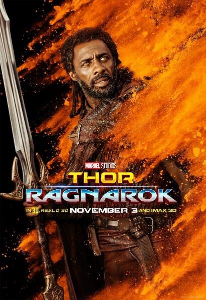 Thor: Ragnarok Idris Elba Poster
