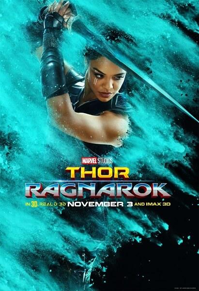 Thor: Ragnarok Tessa Thompson Poster