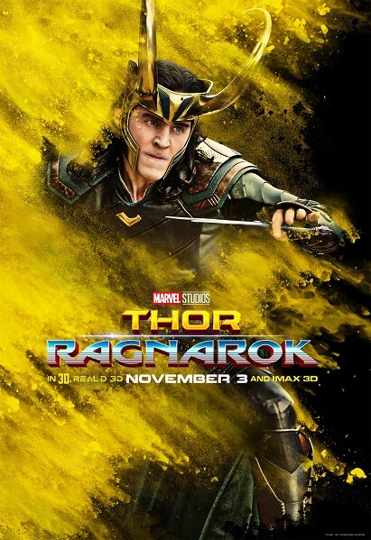 Thor: Ragnarok Tom Hiddleston Poster