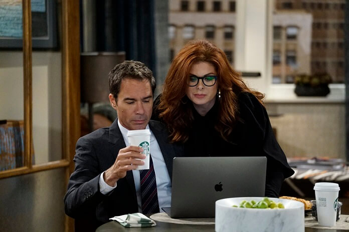Will and Grace Eric McCormack and Debra Messing