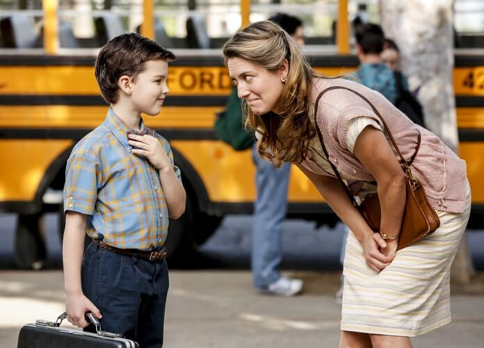 Young Sheldon star Iain Armitage and Zoe Perry