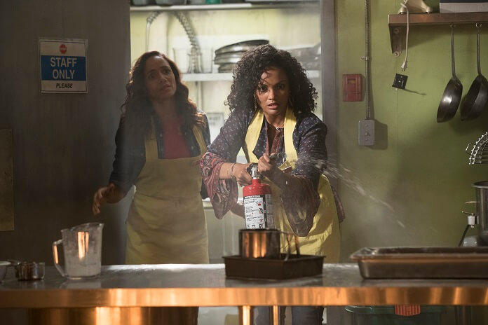 Dania Ramirez and Mekia Cox in 'Once Upon a Time' season 7 episode 5 (ABC/Jack Rowand)