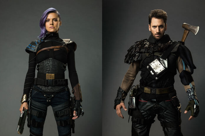 Future Man stars Eliza Coupe and Derek Wilson