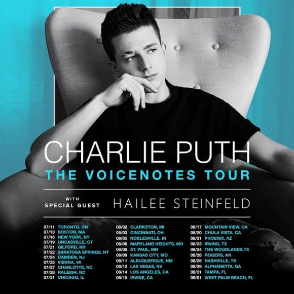 Charlie Puth 2018 Tour Dates