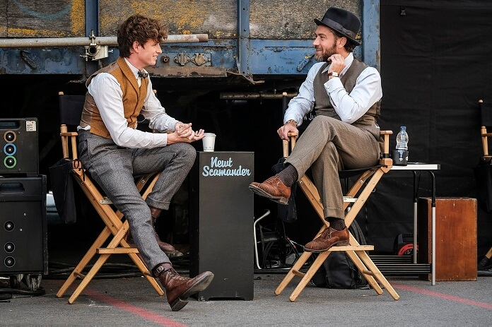 Fantastic Beasts: The Crimes of Grindelwald Jude Law and Eddie Redmayne