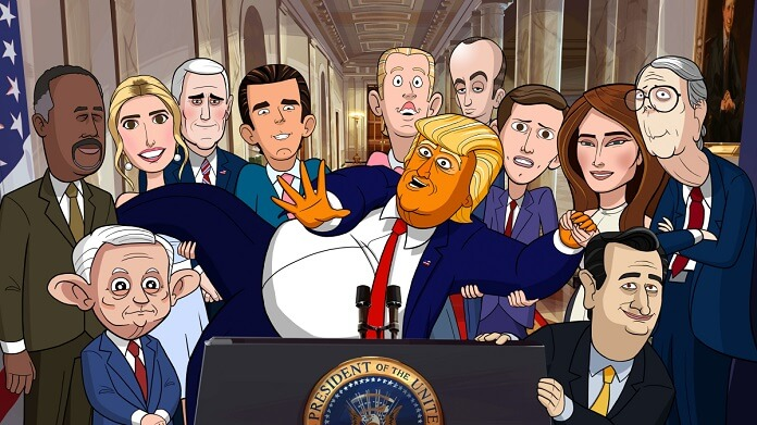 Showtime's Cartoon Trump Show from Stephen Colbert Premiering in February