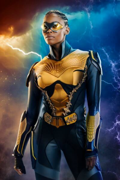 Black Lightning star Nafessa Williams as Thunder