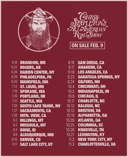 Chris Stapleton 2018 Tour Dates