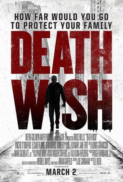Death Wish Remake Starring Bruce Willis Gets a New Trailer ... Bruce Willis Movies